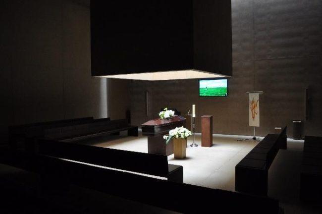 Crematorium Hofheide in Holsbeek (architecten: Coussée & Goris i.s.m. RCR Arquitectes) Foto: Marc Dubois