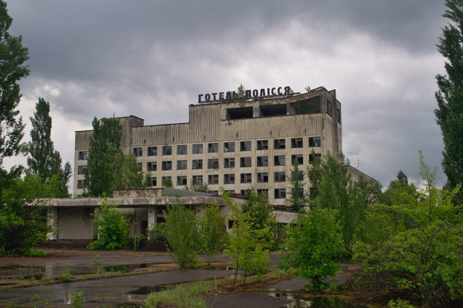 Hotel in Pripyat (foto Wikimedia)