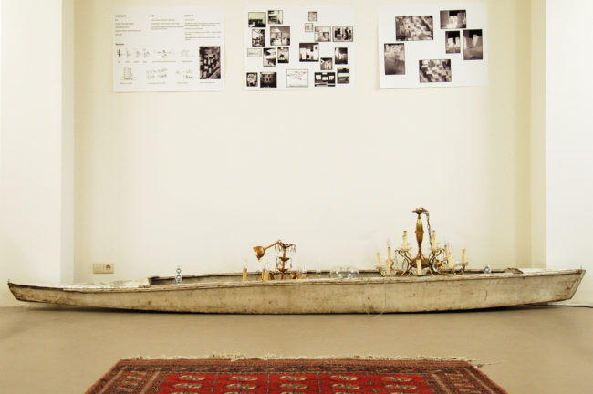 BOGDAN & VAN BROECK, Boot (400 x 70 cm) met begeleidende brief + geleid bezoek aan twee projectwerven