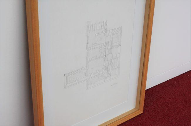 Dierendonckblancke, Handgetekende perspectiefsnede 12K, 60 x 42 cm
