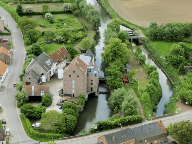 luchtfoto Molen Van Rotselaar (Foto: vzw Molen van Rotselaar)