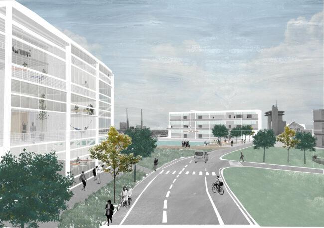 Hub voor kleine ondernemers in de haven, Le Havre (Beeld: Architectuurplatform)