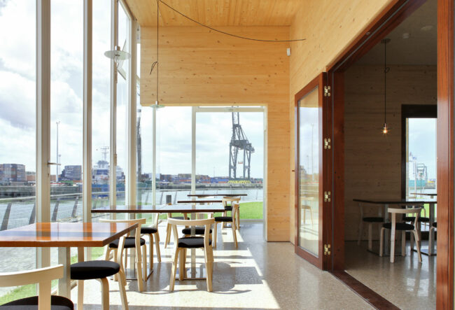 Royal Belgian Sailing Club Alberta, Wim Goes Architecten, (Foto: Filip Dujardin)