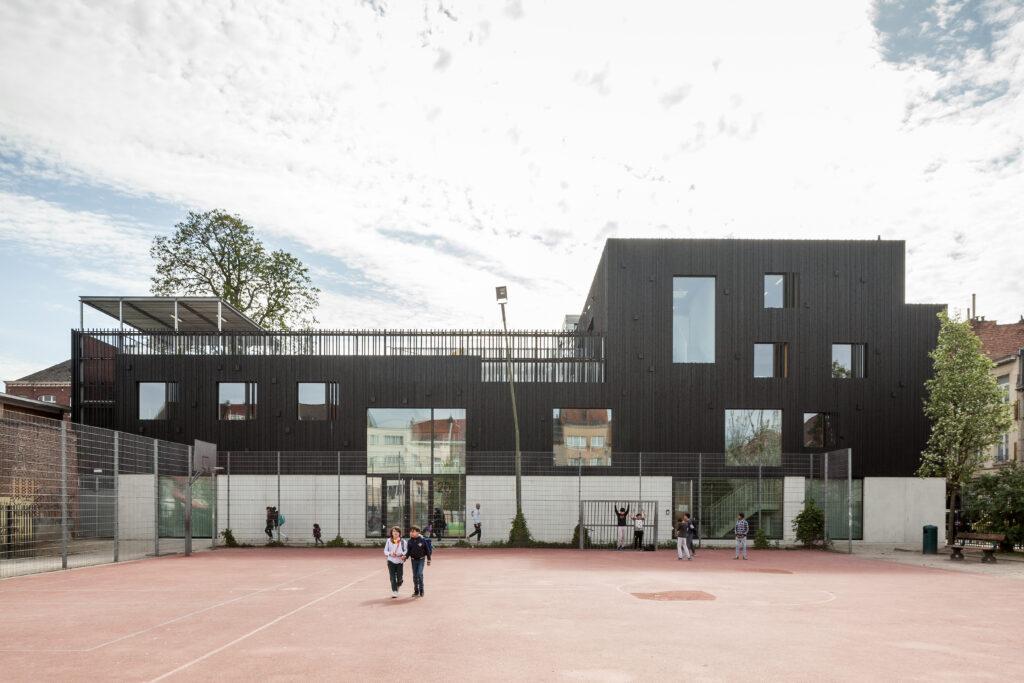 Bonneviepark en Polyvalent gebouw Bonnevie, PTArchitecten, (Foto: Tim Van de Velde)