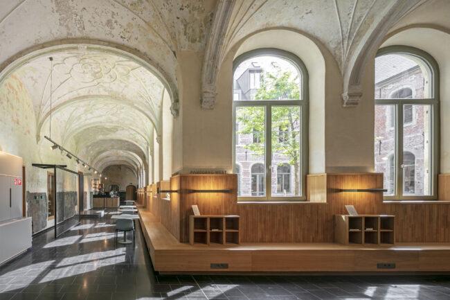 Stadsbibliotheek Het Predikheren, Korteknie Stuhlmacher Architecten, Callebaut Architecten, Bureau Bouwtechniek, (Foto: Luuk Kramer)