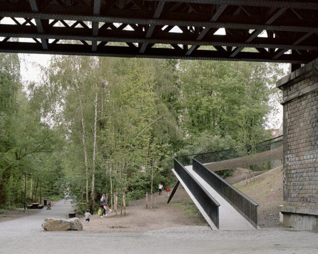 Fiets- en wandelbrug Bockstael, Baukunst, (Foto: Maxime Delvaux)