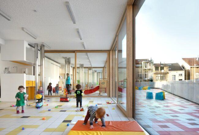 Nieuw Kinderland, ZAmpone architectuur en BUROBILL Architecten, (Foto: Filip Dujardin)