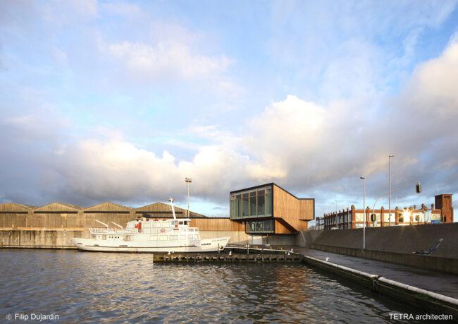 Bezoekerscentrum Havenbedrijf, TETRA architecten (nuArchitectuurplatform Terwecoren VerdicktenMAKER architecten), (Foto: Filip Dujardin)